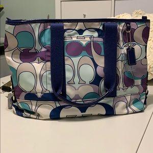 COACH Kyra Scarf Print Convertible Tote Bag